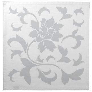 Oriental Flower - Silver Napkin