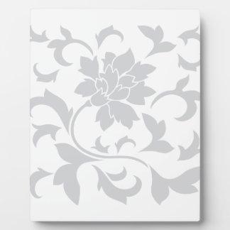 Oriental Flower - Silver Plaque