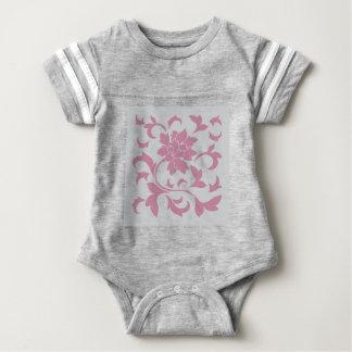 Oriental Flower - Silver Strawberry Baby Bodysuit