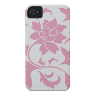 Oriental Flower - Silver Strawberry Case-Mate iPhone 4 Cases
