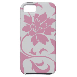 Oriental Flower - Silver Strawberry iPhone 5 Covers