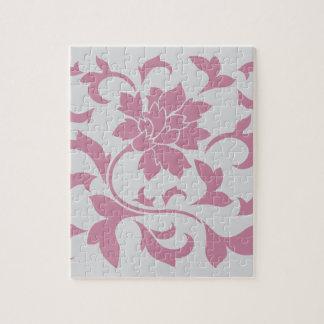 Oriental Flower - Silver Strawberry Jigsaw Puzzle