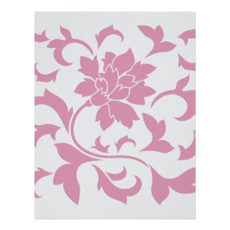 Oriental Flower - Silver Strawberry Letterhead