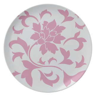 Oriental Flower - Silver Strawberry Plate