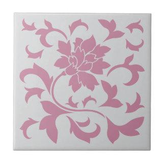 Oriental Flower - Silver Strawberry Tile