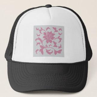 Oriental Flower - Silver Strawberry Trucker Hat