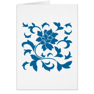 Oriental Flower - Snorkel Blue Card