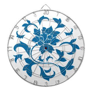 Oriental Flower - Snorkel Blue Circular Pattern Dartboard