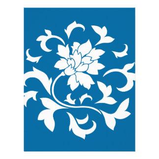 Oriental Flower - Snorkel Blue Circular Pattern Letterhead
