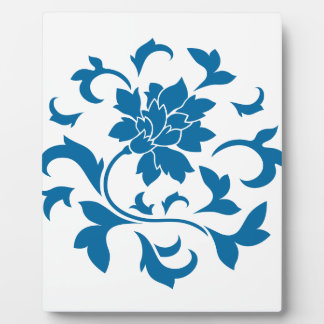 Oriental Flower - Snorkel Blue Circular Pattern Plaque