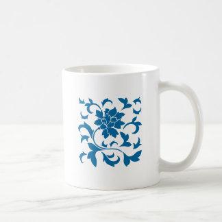 Oriental Flower - Snorkel Blue Coffee Mug