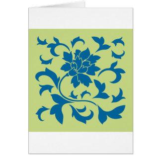 Oriental Flower - Snorkel Blue & Daiquiri Green Card