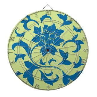 Oriental Flower - Snorkel Blue & Daiquiri Green Dartboard