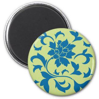Oriental Flower - Snorkel Blue & Daiquiri Green Magnet