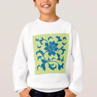 Oriental Flower - Snorkel Blue & Daiquiri Green Sweatshirt