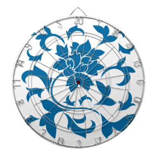 Oriental Flower - Snorkel Blue Dartboard