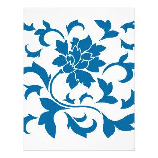 Oriental Flower - Snorkel Blue Letterhead