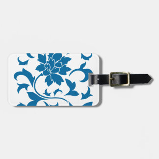 Oriental Flower - Snorkel Blue Luggage Tag