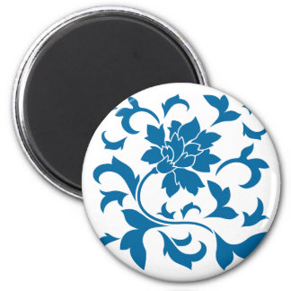 Oriental Flower - Snorkel Blue Magnet