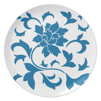 Oriental Flower - Snorkel Blue Plate