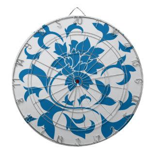 Oriental Flower - Snorkel Blue & Silver Dartboard