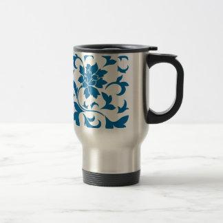 Oriental Flower - Snorkel Blue Travel Mug