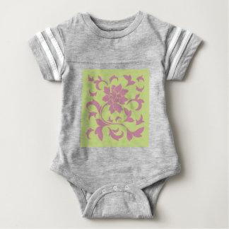 Oriental Flower - Strawberry & Daiquiri Green Lime Baby Bodysuit