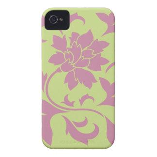 Oriental Flower - Strawberry & Daiquiri Green Lime iPhone 4 Case-Mate Case