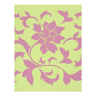 Oriental Flower - Strawberry & Daiquiri Green Lime Letterhead
