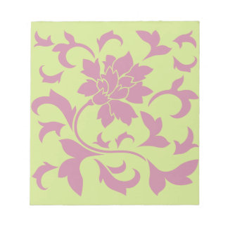 Oriental Flower - Strawberry & Daiquiri Green Lime Notepad
