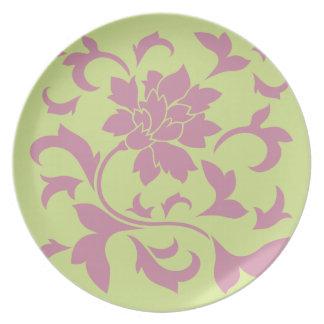 Oriental Flower - Strawberry & Daiquiri Green Lime Plate