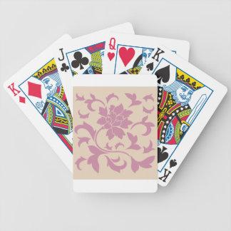 Oriental Flower - Strawberry Latte Poker Deck