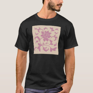 Oriental Flower - Strawberry Latte T-Shirt