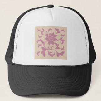 Oriental Flower - Strawberry Latte Trucker Hat