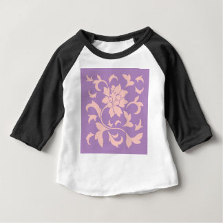 Oriental Flower - Strawberry Lilac Baby T-Shirt