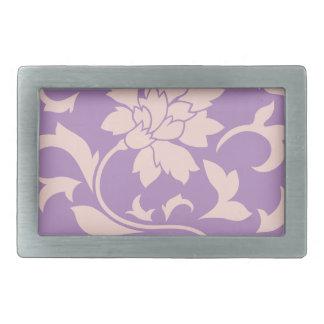Oriental Flower - Strawberry Lilac Belt Buckles