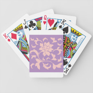 Oriental Flower - Strawberry Lilac Bicycle Playing Cards