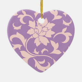 Oriental Flower - Strawberry Lilac Ceramic Ornament