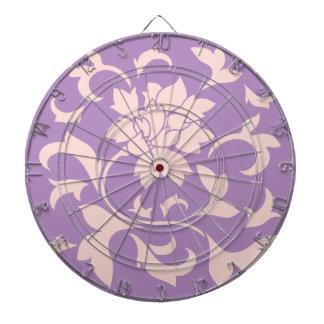 Oriental Flower - Strawberry Lilac Dartboard