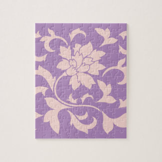Oriental Flower - Strawberry Lilac Jigsaw Puzzle