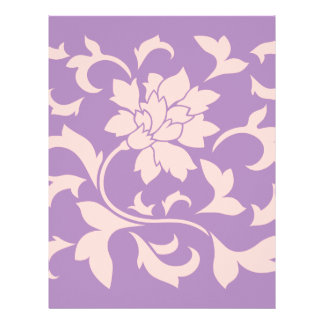 Oriental Flower - Strawberry Lilac Letterhead