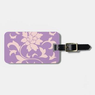 Oriental Flower - Strawberry Lilac Luggage Tag