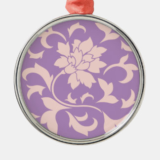 Oriental Flower - Strawberry Lilac Metal Ornament