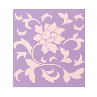 Oriental Flower - Strawberry Lilac Notepad