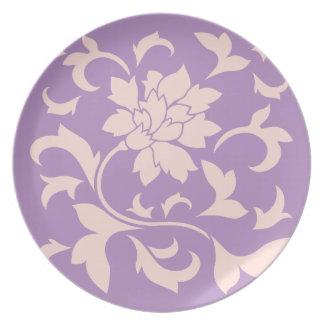 Oriental Flower - Strawberry Lilac Plate
