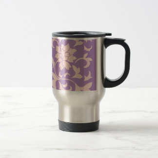 Oriental Flower - Strawberry Lilac Travel Mug