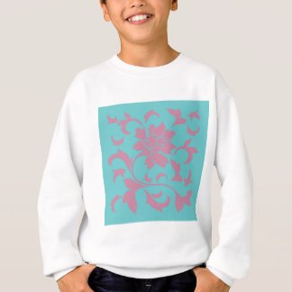 Oriental Flower - Strawberry & Pure Turquoise Sweatshirt