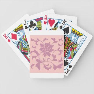 Oriental Flower - Strawberry & Rose Quartz Poker Deck