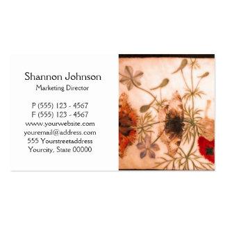 Oriental Flowers and Butterflies Business Card