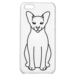 Oriental Foreign White Cat Cartoon iPhone 5C Cases